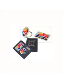 Подарунковий набір Zinger: люстерко; візитниця (zo-GSM-02003)