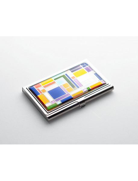 Візитниця Zinger кольорова срібло NHS41119 (zo-GSN-01004)